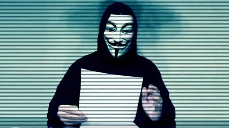 Anonymous Hacker Grubu tehtid videosu haber görseli.